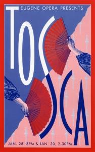 Eugene Opera Tosca Poster for Popp!e Design