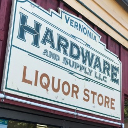 Vernonia Hardware and Liquor Store